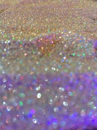 colour: Hologram glitter background.