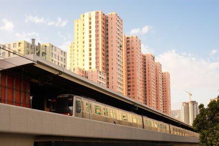 Train at Kowloon Bay district, Kowloon, Hong Kong, China Stock Photo - 7545971