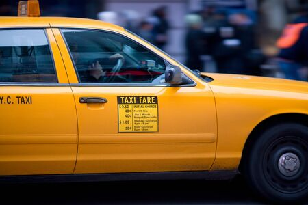 New York Cab, Manhattan, New York City, New York, United States  No Model Release photo