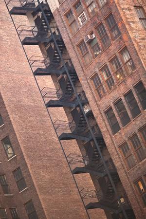 Fire stairs, Manhattan, New York City, NY, USA photo