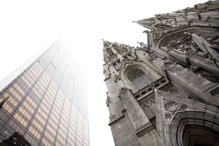 saint patricks: Saint Patricks Cathedral, Fifth Avenue, Midtown, Manhattan, New York City, USA Stock Photo