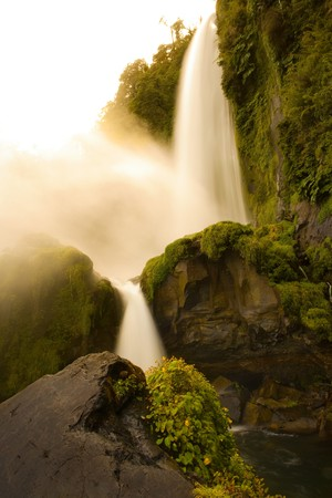 Salto El Leon Waterfall, Pucon, Chile, South America