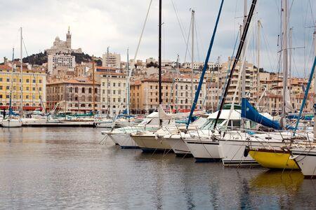 marseille: Panoramisch uitzicht over Marseille, Frankrijk Stockfoto