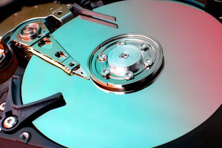 Computer Hard drive close up