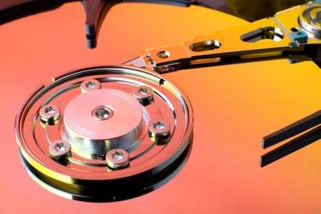 terabyte: Computer Hard drive close up