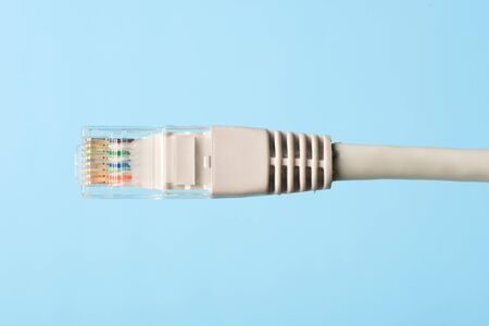 Net cable conector close up photo