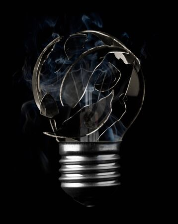 Burn out light bulb photo