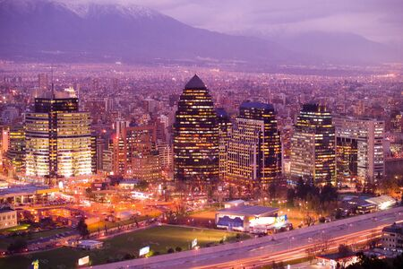 Skyline of Santiago de Chile photo