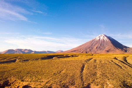 Licancabur Volcano at the Altiplano, San Pedro de Atacama, Atcama Desert, Chile, South America