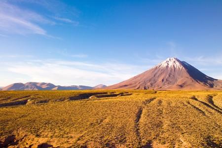 Licancabur Volcano at the Altiplano, San Pedro de Atacama, Atcama Desert, Chile, South America