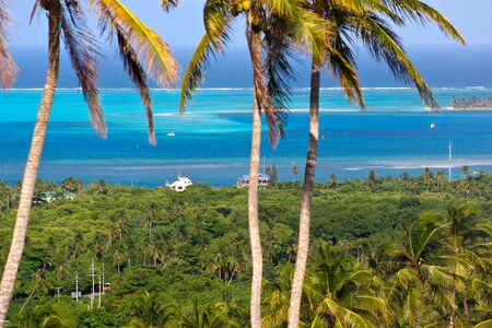 Panoramic view of San Andres Island, Colombia Stock Photo