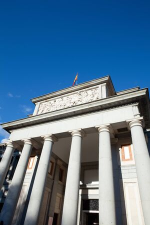 Columns at the access of Museo del Prado (Prado art Museum), Madrid, Spain