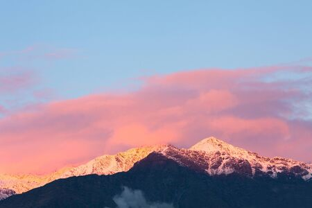 andes mountain: Andes Mountain range at sunset, Chile