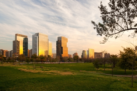 Modern buildings at Nueva Las Condes, Santiago, Chile, South America