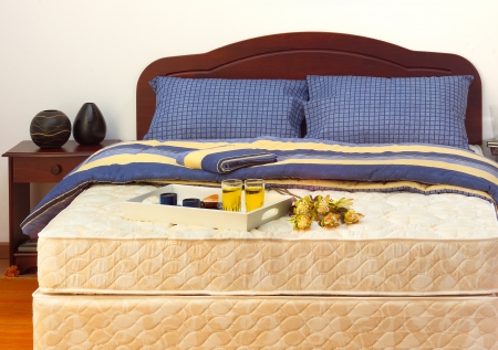 Mattress with sheets and pillows Stock Photo - 16464261