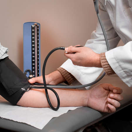 Close up of a blood pressure check photo