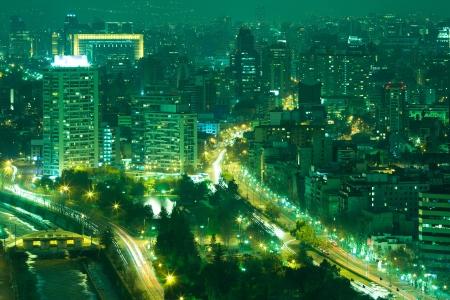 View of Santiago de Chile toward the east part of the city photo