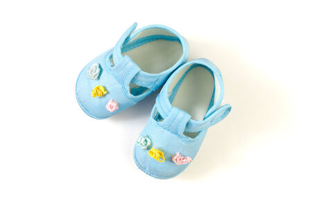 cute shoes: Baby shoes Stock Photo