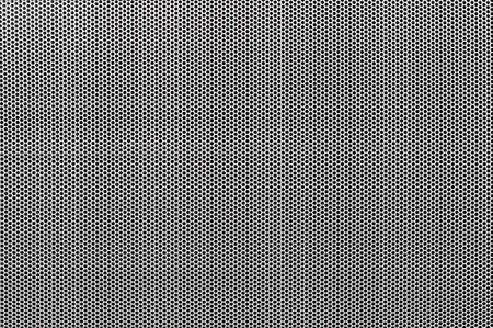aluminum texture: White metal perforated with dots background