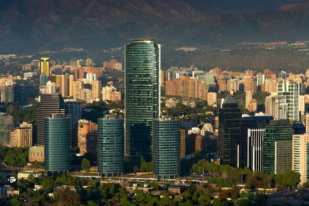 portada: View of Santiago de Chile with Titanium La Portada skyscraper
