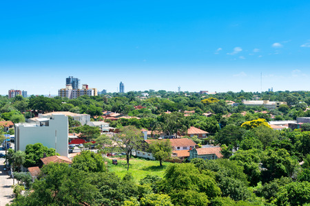 View of a residential neighborhood at Asuncion, Paraguay Archivio Fotografico