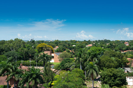 residential neighborhood: View of a residential neighborhood at Asuncion, Paraguay Stock Photo