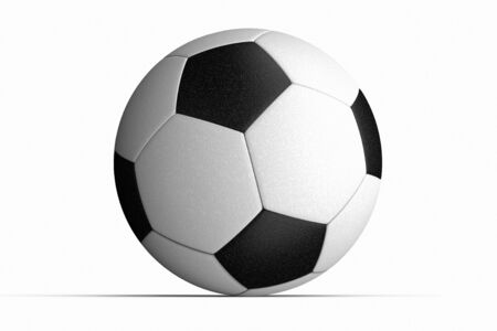 the detail: Soccer ball close up detail against a white background Stock Photo