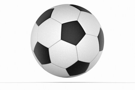 detail: Soccer ball close up detail against a white background Stock Photo