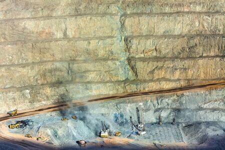 america del sur: mina a cielo abierto en el norte de Chile Foto de archivo