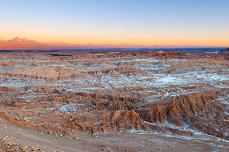View of Valle de la Luna (Moon Valley), Cordillera de la Sal (salt mountain range), Atacama Desert, Chile