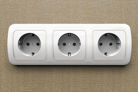 electric outlet: Detail of an electric outlet Stock Photo