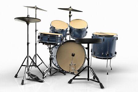 Drums tegen een witte achtergrond Stockfoto