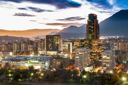 Santiago, Region Metropolitana, Chile - May 25, 2017: View of Parque Arauco, a shopping mall in Las Condes district, with shopping, hotels and premium office space. Editorial