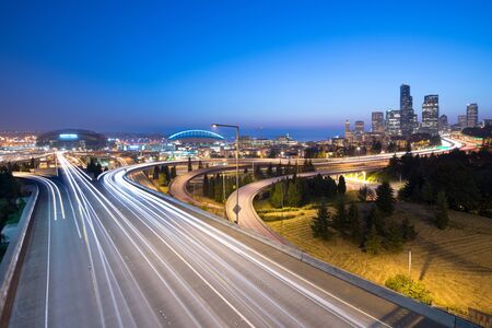 Intersection between I-5 and I-90, Seattle, Washington State, USA
