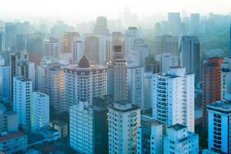 Vue panoramique des bâtiments résidentiels à Sao Paulo, Brésil, Amérique du Sud