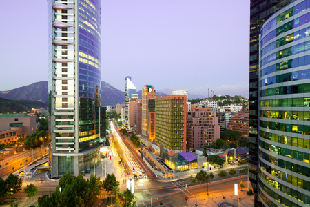The wealthy neighborhood of Isidora Goyenechea at Las Condes district, Santiago, Chile