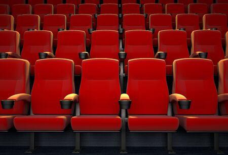 3D rendering of an empty movie theatre Foto de archivo