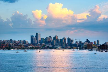 Lake Union and Downtown, Seattle, Washington State, USA