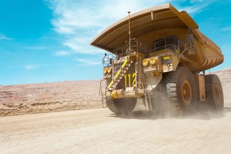 Dump truck at a copper mine in Latin America Stock Photo
