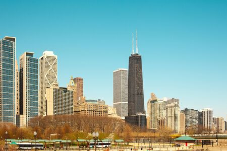 Lake shore and Milton Lee Olive Park, Chicago, Illinois, USA