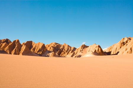 Valle de la Muerte (spanish for Death Valley) also known as La Cordillera de la Sal (spanish for salt mountain range), San Pedro de Atacama, Atacama Desert, Antofagasta Region, Chile, South America Stock Photo
