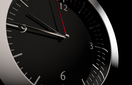 3D rendering of a close up to a clock 스톡 콘텐츠