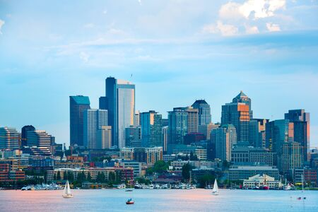 Lake Union and Downtown, Seattle, Washington State, USA