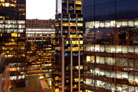 Modern office buildings at Las Condes district, Santiago Chile