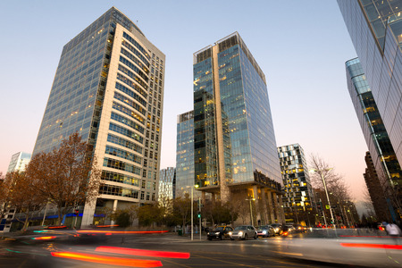 Office buildings at Nueva Las Condes business center, Las Condes, Santiago de Chile