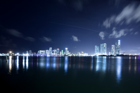 Downtown skyline across Biscayne Bay, Miami, Florida, USA