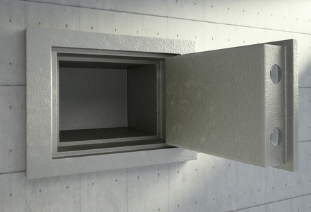 3D render of an empty safety box 스톡 콘텐츠