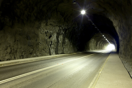 Empty tunnel in Chile