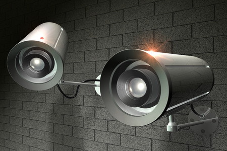 3D rendering of security Cameras