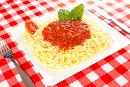 Big portion of spaguetti with Bolognese sauce